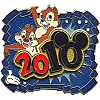 Disney White Glove Pin - Dated 2010 - Chip and Dale