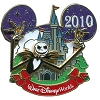 Disney Characters With Cinderella Castle Pin - Jack Skellington