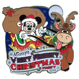 Disney Very Merry Christmas Party Pin 2010 Passholder Mickey