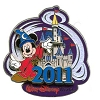 Disney Annual Pin - 2011 Cinderella Castle - Sorcerer Mickey