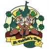 Disney St.Patrick's Day Pin - 2011 - Chip 'n Dale