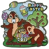 Disney Easter Pin - 2011 Chip 'n Dale
