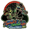 Disney Osborne Lights Pin - 2011 Passholder - Mickey and Santa