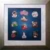 Disney Very Merry Christmas Party Pin Set - 2011 Framed Set - 9 Pins