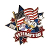 Disney Veterans Day Pin - 2012 - Donald and Daisy Duck