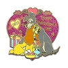 Disney Valentine's Day Pin - 2013 - The Lady & The Tramp