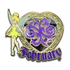 Disney Tinker Bell Birthstone Collection Pin - February - 2013