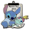 Disney Nurses Day Pin - 2013 Stitch