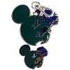 Disney Lanyard Medal and Pin - Mickey Icon - Earth and Animal Figures