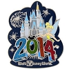Disney Annual Pin - 2014 Cinderella Castle - Tinker Bell