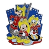 Disney Mickey Gang Pin - Vintage Mickey Donald Goofy Firefighters