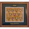 Disney Mystery Pin - 2014 Christmas Wreaths - Framed