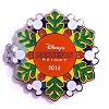 Disney Resort Holidays Pin - 2014 Polynesian Resort - Stitch