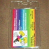 Disney Lanyard Attachment ID Fast Pass Holder Clear Vertical 2.5 x 3.5