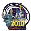 Disney Annual Pin - 2010 Cinderella Castle - Stitch