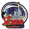 Disney Annual Pin - 2010 Cinderella Castle - Mickey Mouse
