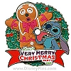 Disney Very Merry Christmas Party Pin - 2009 Stitch and Gingerbread