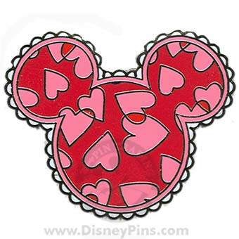 disney mickey mouse icon pin valentines day hearts - Mickey Mouse Valentines