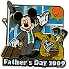 Disney Father's Day Pin - 2009 Mickey Mouse and Pluto