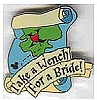 Disney Cast Lanyard Pin - POTC - Take A Wench For A Bride!