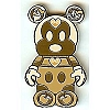 Disney Mystery Pin - Vinylmation Park #2 - Wooden Mickey