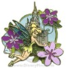 Disney White Glove Pin - Tinker Bell with Flowers