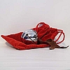 Sea World Collectible Holiday Bell - Silver Bell with red felt bag