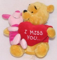 Disney Plush   Winnie The Pooh U0026 Piglet   Valentineu0027s Day