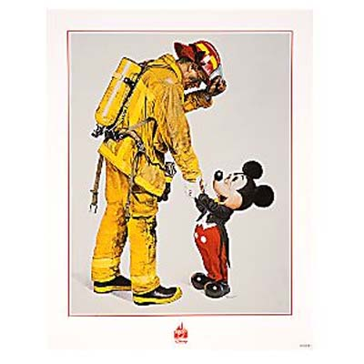 your wdw store disney world poster fireman and mickey