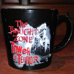 Disney Coffee Cup Mug - Twilight Zone - Tower Of Terror - Black & Red
