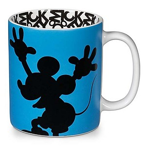 Disney Coffee Cup Mug - Silhouette Mickey Mouse - Blue