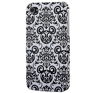 Disney iPhone 4 Case - Filigree Mickey Mouse - White & Black