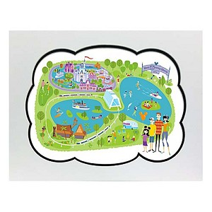 Disney Artist Print - Shag - 40th Anniversary Walt Disney World Map