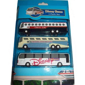 Disney Racers - Die Cast Bus Set - 3 Disney Buses Pack