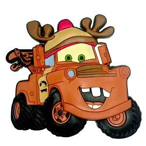 Disney Magnet Pixar Cars Reindeer Tow Mater Christmas