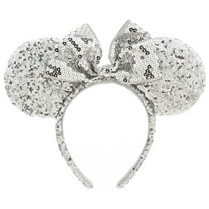 Disney Hat - Ear Headband - Minnie Mouse Silver Sequins