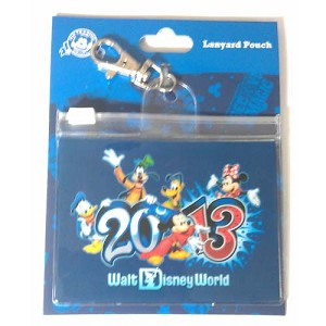Disney Lanyard Pouch - Dated 2013 - Walt Disney World