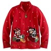 Disney WOMENS Jacket - Christmas Santa Mickey and Minnie Mouse