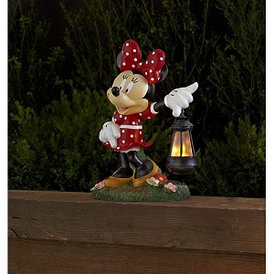 Disney Garden Statue - Flower  Garden - Minnie with Solar Lantern