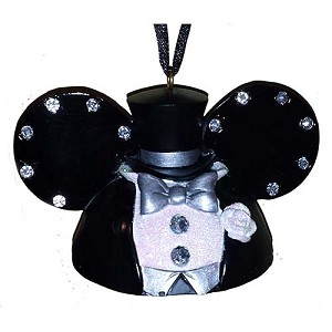 Your WDW Store Disney Ear Hat Ornament Wedding Mickey Mouse Groom