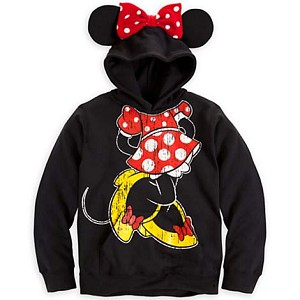 Disney Girls Hoodie - Minnie Mouse Ear Hoodie for Girls