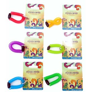 Disney Collectible Gift Card - Food And Wine Festival - 2013 Wristband