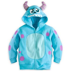 Disney Child Hoodie - Instant Costume - Sulley - Monsters Inc.