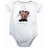 Disney INFANT Bodysuit - Short Sleeve - Santa Mickey and Minnie Mouse