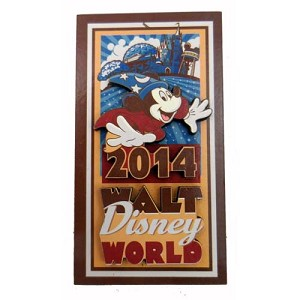 Disney Magnet - 2014 Logo Sorcerer Mickey Walt Disney World