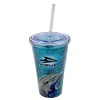 Sea World Tumbler with Straw - Dolphin