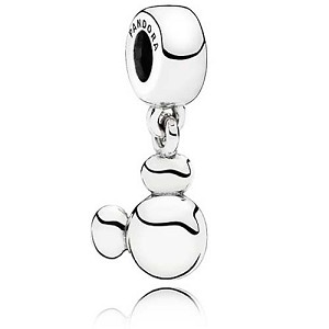 Disney PANDORA Charm - Solid Mickey Dangle