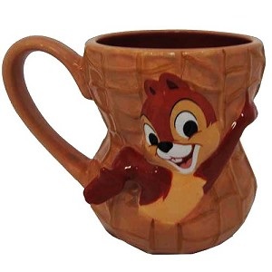 your wdw store disney coffee cup mug chip and dale peanut. Black Bedroom Furniture Sets. Home Design Ideas