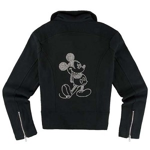 Disney Ladies Biker Jacket - Mickey Mouse