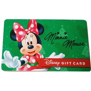 disney collectible gift card 2015 holiday promo minnie mouse gift. Black Bedroom Furniture Sets. Home Design Ideas